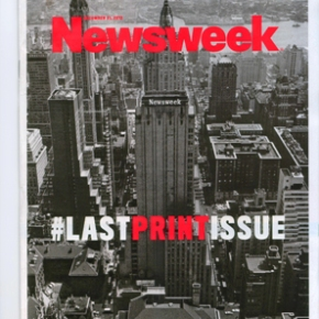Last Print Newsweek – some thought on New Years Eve 2012/13.