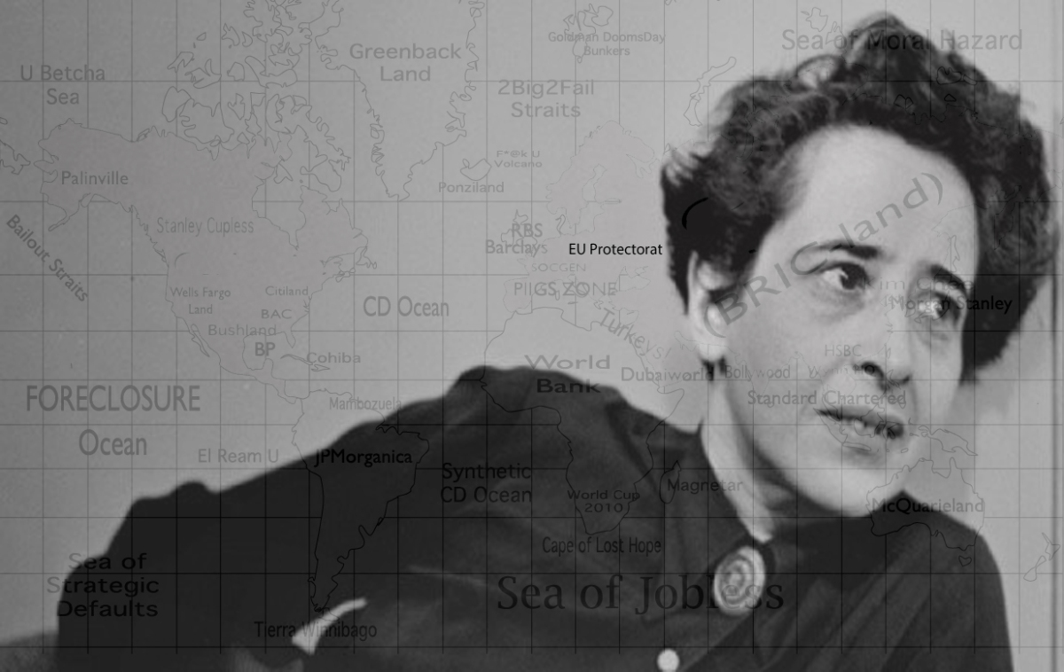 hannah arendt banality evil thesis From a despicable anti-semitic murderer to a grey, mediocre clerk • fifty years have passed since jewish thinker hannah arendt penned her famous thesis of eichmann, 'the banality of evil'.