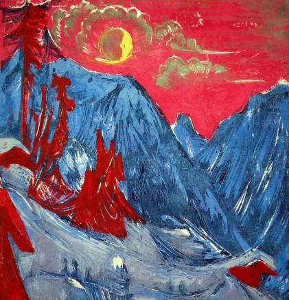 Winter landscape in moonlight 1919
