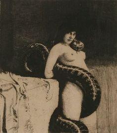 Die Sinnlichkeit Franz von Stuck (1863-1928)  Die Sinnlichkeit (Sensuality)  etching  circa 1891