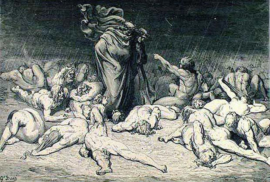 punishment in dante's inferno Forest of suicides: 6 comments on dante's punishment for the self-violent those suffering the just punishment for violence against others wade in a river of.